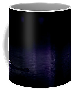 Coffee Mug featuring the photograph Alone In The Dark by Mark Andrew Thomas