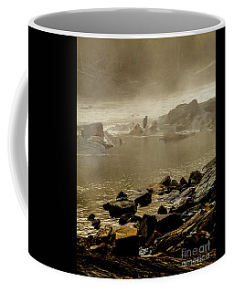 Coffee Mug featuring the photograph Alone In The Mist by Iris Greenwell