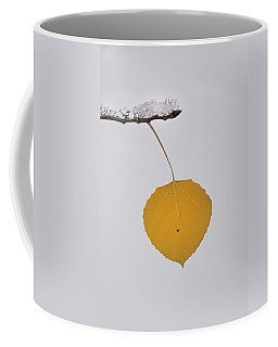 Coffee Mug featuring the photograph Alone In The Snow by Ron Cline