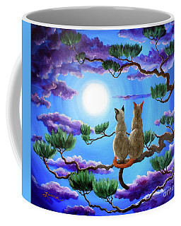 Alone In The Treetops Coffee Mug by Laura Iverson