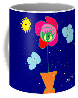 Coffee Mug featuring the painting Alone With God by Anita Dale Livaditis