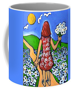 Coffee Mug featuring the painting Along The New Path by Winsome Gunning