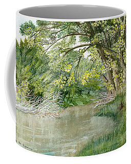 Coffee Mug featuring the painting Along The Susquehanna by Melly Terpening