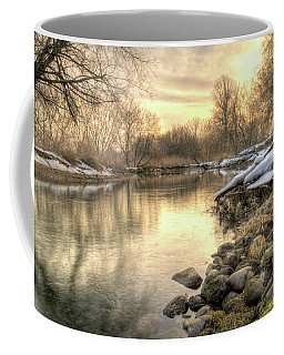 Along The Thames River Signed Coffee Mug
