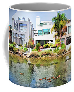 Coffee Mug featuring the photograph Along The Venice Canals by Chuck Staley