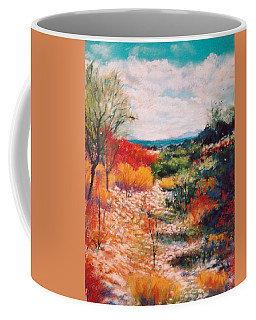 Coffee Mug featuring the painting Along The Wash by M Diane Bonaparte