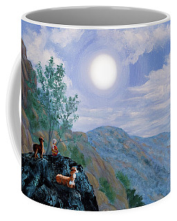 Alpaca Shaman Meditation Coffee Mug