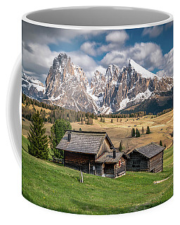 Coffee Mug featuring the photograph Alpe Di Suisi Cabin by James Udall