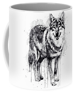 Alpha Wolf Black And White Coffee Mug