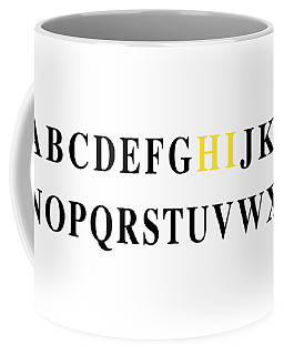 Coffee Mug featuring the digital art Alphabet Hi by Nancy Ingersoll