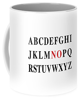 Coffee Mug featuring the digital art Alphabet No by Nancy Ingersoll