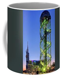 Coffee Mug featuring the photograph Alphabetic Tower by Fabrizio Troiani