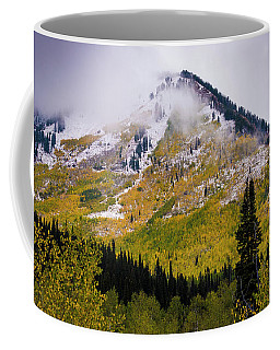 Coffee Mug featuring the photograph Alpine Loop Autumn Storm - Wasatch Mountains  by Gary Whitton