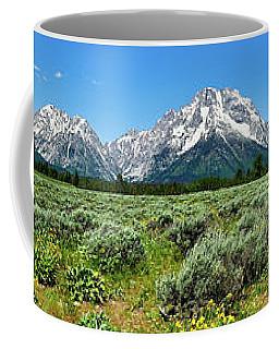 Alpine Meadow Teton Panorama Coffee Mug