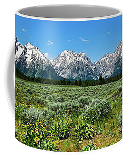 Alpine Meadow Teton Panorama II Coffee Mug
