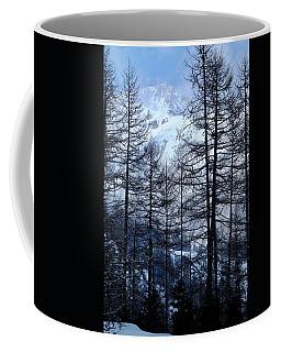 Alps And Tall Pine Trees Coffee Mug