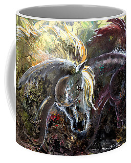 Coffee Mug featuring the painting Alter Ego by Sherry Shipley