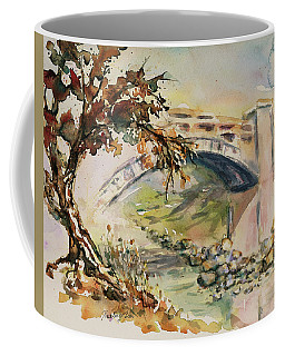 Coffee Mug featuring the painting Alum Rock Park California Landscape 5 by Xueling Zou