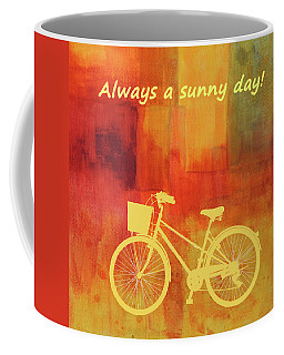 Coffee Mug featuring the painting Always A Sunny Day by Nancy Merkle