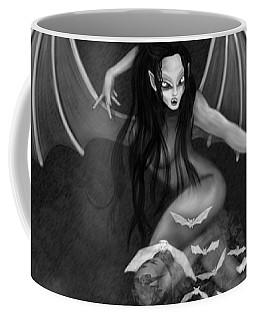 Always Awake - Black And White Fantasy Art Coffee Mug