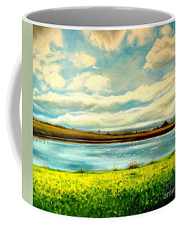 Coffee Mug featuring the painting Am I Dreaming by Elizabeth Robinette Tyndall