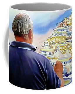 Amalfi Coast Street Artist - Positano, Italy Coffee Mug