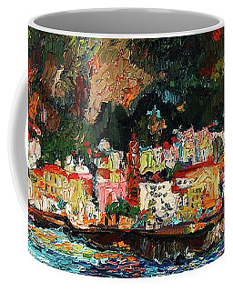 Amalfi Italy Panorama Impressionist Oil Painting Coffee Mug