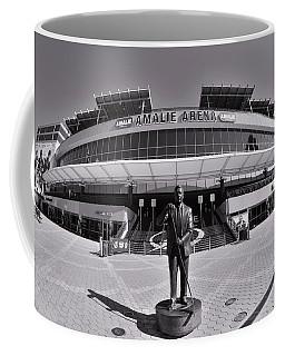 Amalie Arena Black And White Coffee Mug