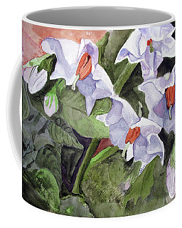 Amanda's Blue Potato Flowers Coffee Mug