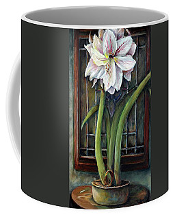 Amaryllis In The Window Coffee Mug