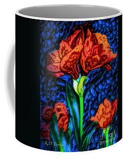 Amaryllis Van Gogh Style  Coffee Mug by Kimberlee Baxter