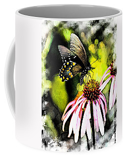 Coffee Mug featuring the photograph Amazing Butterfly Watercolor 2 by Marty Koch