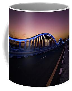 Amazing Night Dubai Vip Bridge With Beautiful Sunset. Private Ro Coffee Mug