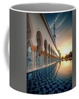 Amazing Sunset View At Mosque, Abu Dhabi, United Arab Emirates Coffee Mug