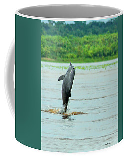Amazon Dolphin Breaching Coffee Mug