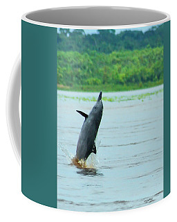 Amazon Gray Dolphin Breaching Coffee Mug