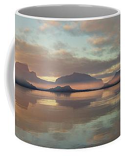 Coffee Mug featuring the digital art Salmon Lake Sunrise by Mark Greenberg