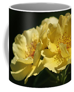 Amber Yellow Country Rose Coffee Mug