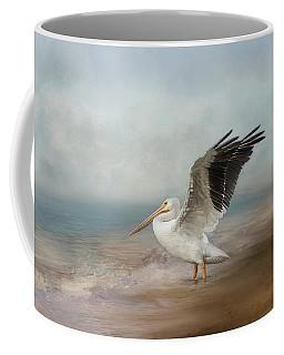 Coffee Mug featuring the photograph Amble Along The Shore by Kim Hojnacki