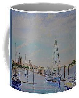 Coffee Mug featuring the painting Amelia Island Port by AnnaJo Vahle