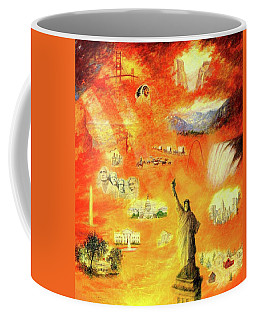 America At Sunset  Coffee Mug