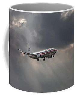 American Aircraft Landing After The Rain. Miami. Fl. Usa Coffee Mug