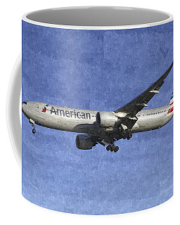 American Airlines Boeing 777 Aircraft Art Coffee Mug