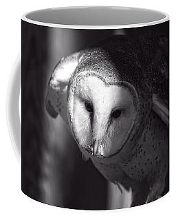 American Barn Owl Monochrome Coffee Mug