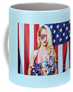 Coffee Mug featuring the photograph American Beauty No9034 by Amyn Nasser