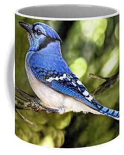 Blue Jay Bokeh Coffee Mug