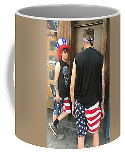 Coffee Mug featuring the photograph American Boy by Joan Reese