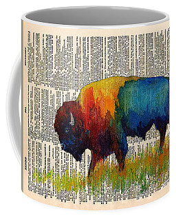 American Buffalo IIi On Vintage Dictionary Coffee Mug