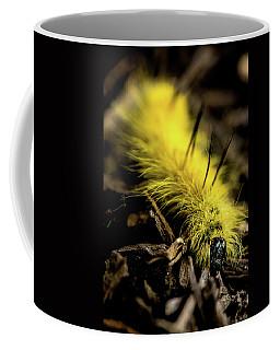 Coffee Mug featuring the photograph American Dagger Moth Caterpillar by Onyonet  Photo Studios