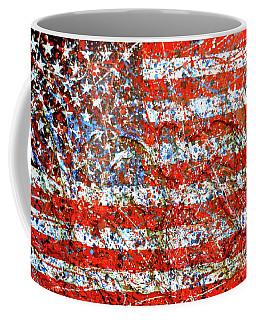 American Flag Abstract 2 With Trees  Coffee Mug